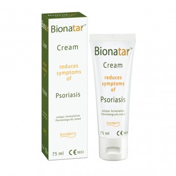 """Kremas psoriazės ir seborėjinio dermatito požymiams mažinti """"BIONATAR"""""""