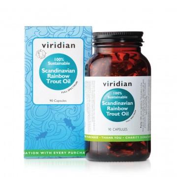 """Maisto papildas ŽUVŲ TAUKAI """"100% Sustainable Scandinavian Rainbow Trout Oil"""""""