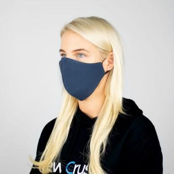 Daugkartinė dvipusė veido kaukė medvilninė (tamsiai pilka)