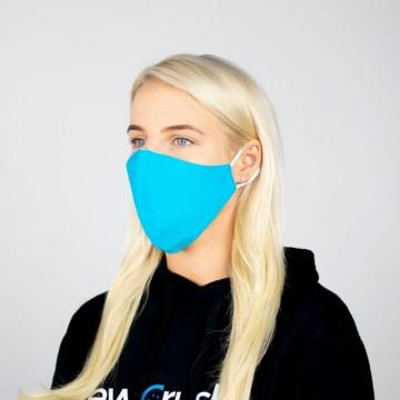 Daugkartinė veido kaukė medvilninė (ryškiai mėlyna)