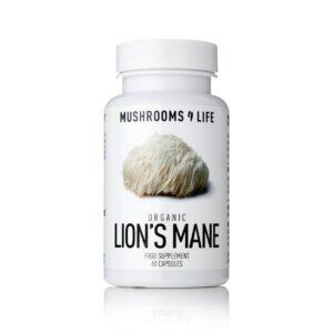 """Maisto papildas """"Organic Lion's Mane"""" Nerimas, depresija, atmintis"""