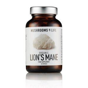 """Maisto papildas """"Organic Lion's Mane"""", mushrooms4life, 60 kapsulių"""