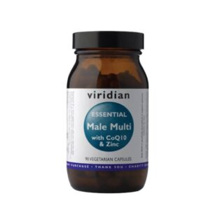 """Maisto papildas VYRAMS """"Essential Male Multi with CoQ10 & Zinc"""", VIRIDIAN, 90 kapsulių"""