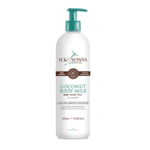 "Kūno kremas ""Coconut Body Milk"", eco by sonya, eco tan, 375 ml"