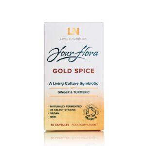 """Maisto papildas """"Your Flora Gold Spice"""", LIVING NUTRITION, 60 kapsulių"""