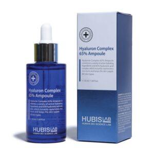 """Drėkinantis serumas-ampulė su hialuronu sausai odai """"Hyaluron Complex 65% Ampoule"""", HUBISLAB, 50ml"""