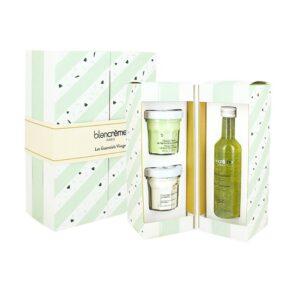 """Rinkinys mišriai, riebiai veido odai su žaliosios arbatos ekstraktu """"Green Tea and Bamboo"""""""
